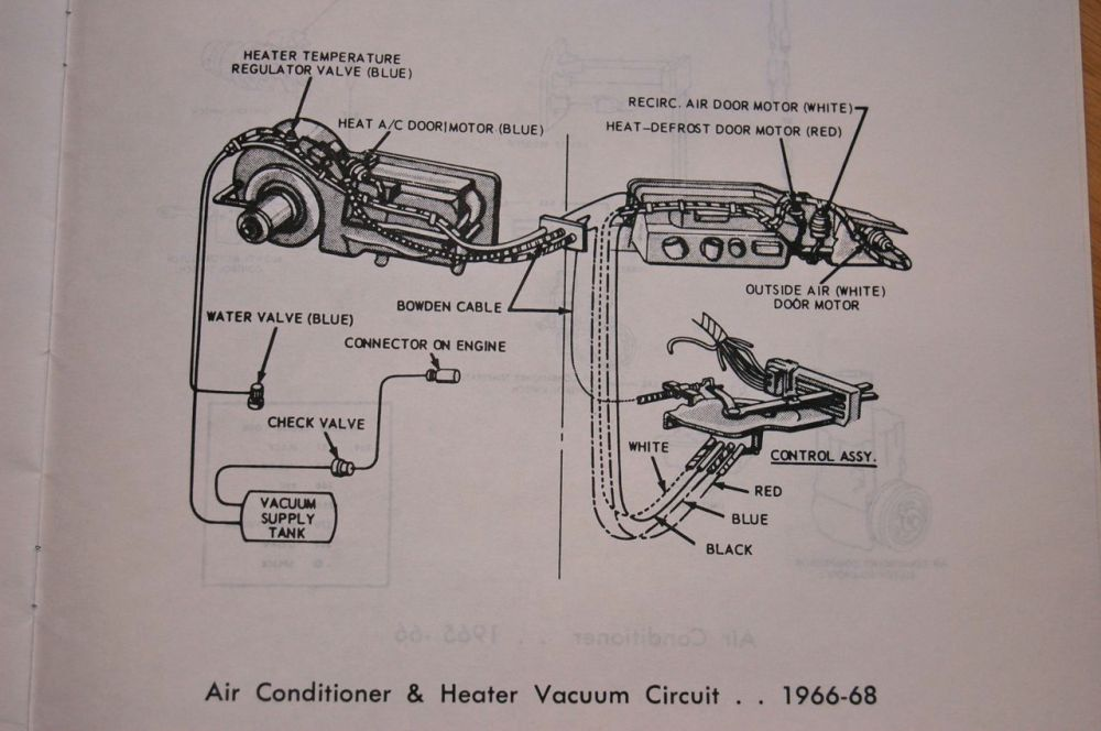 medium resolution of 1966 65 68 heater control valve and system with factory air con 1968 ford galaxie vacuum diagram