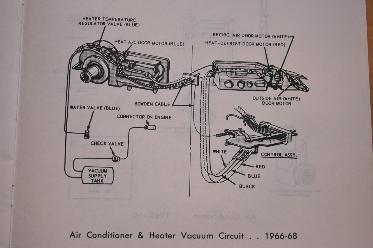 hight resolution of 1966 65 68 heater control valve and system with factory air con 1968 ford galaxie vacuum diagram