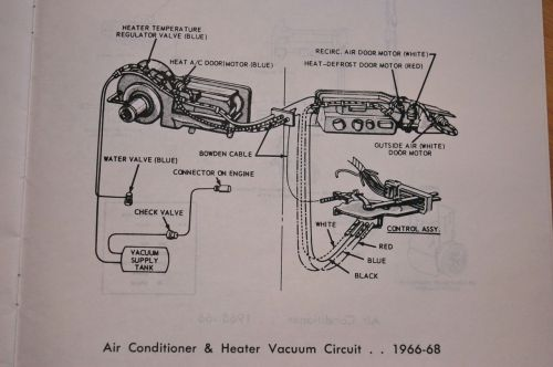 small resolution of 1966 65 68 heater control valve and system with factory air con 1968 ford galaxie vacuum diagram