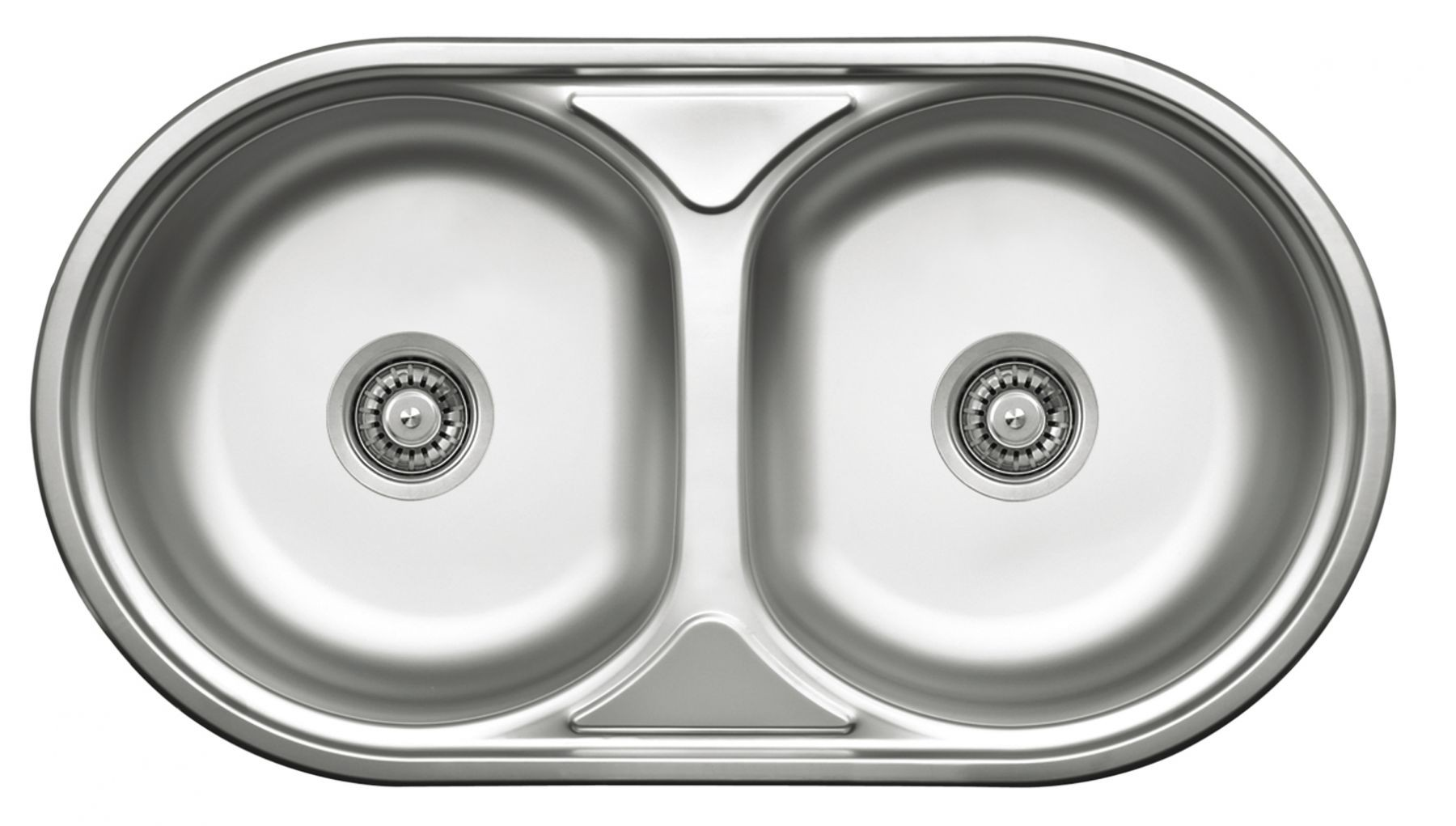 Deante Duet Round Double Bowl Sink Without Drainer