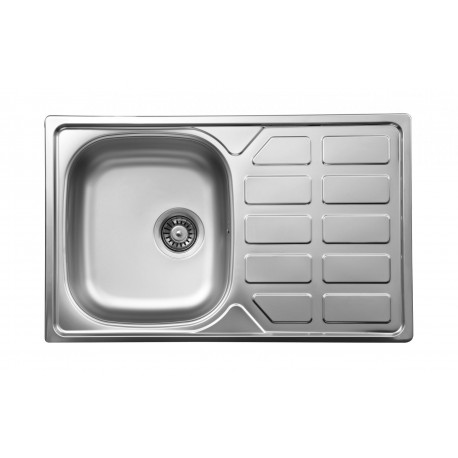 kitchen sinks with drain boards french style furniture deante soul 1 bowl sink draining board decor steel