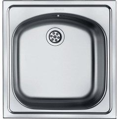 Square Kitchen Sink Fluorescent Lighting Ideas Franke Single 1 0 Bowl Inset With Waste Stainless Steel Kitc