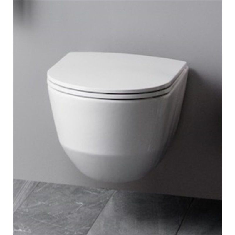 Laufen Pro Rimless Wall Hung Toilet Pan With Soft Close