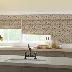 Large Kitchen Window Treatments High Flow Faucet Aerator Roman Shades By Galaxy Draperies Los Angeles Ca