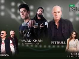 Pitbull Fawad Khan Junoon Boney M PSL 4