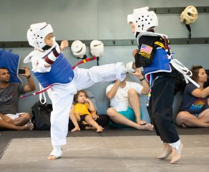 tae kwon do sparring