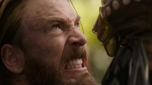 Captain America fights off Thanos