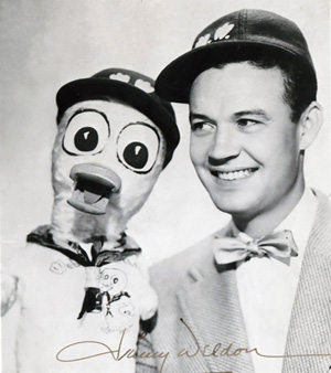 Jimmy Weldon with Webster Webfoot