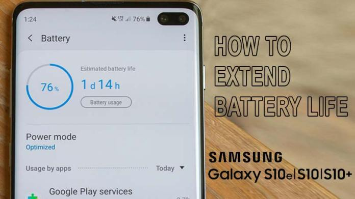Galaxy S10 Extend Battery Life Power Saving Modes Or Aod