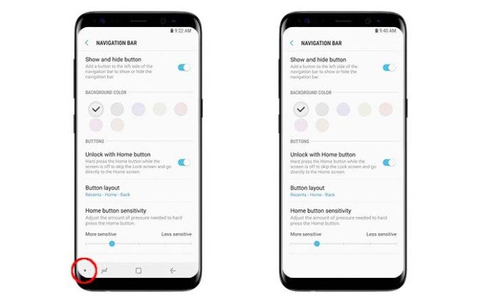 How to Setting Samsung Galaxy S8 Navigation Bar