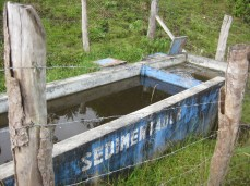 Ocol: Standard sedimentation tank, built by the regional government about 5-6 years ago.
