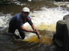 Ocol: The water operator Armando, conviently could remove one side of the damn to wash out alot of the built up sediment.