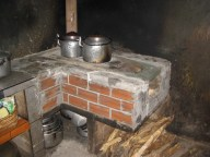 Cocina being used shortly after. In reality the owners should wait about 8 days for the special mud to dry perfectly.