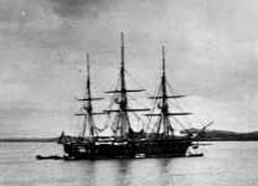 USS Colorado off Ganghwado island May, June 1871