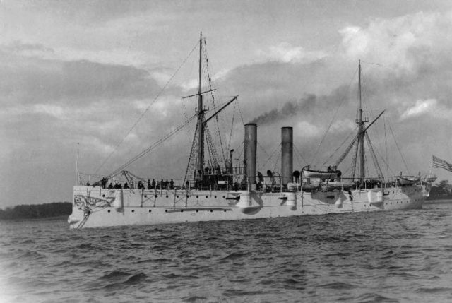USS Detroit was a 2,235 ton unprotected cruiser launched in 1891. Saw brief action during 1893 Brazil revolt at Rio. Had good baseball team.