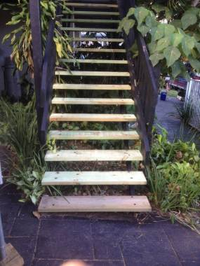 Small carpentry jobs like stairs we do every week