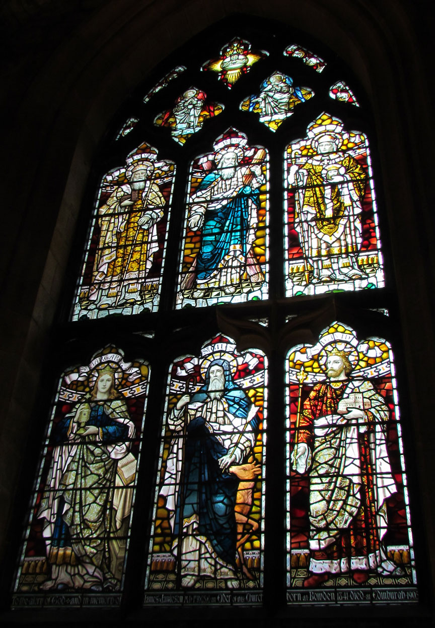 Stained Glass Windows of St Giles cathedral Edinburgh