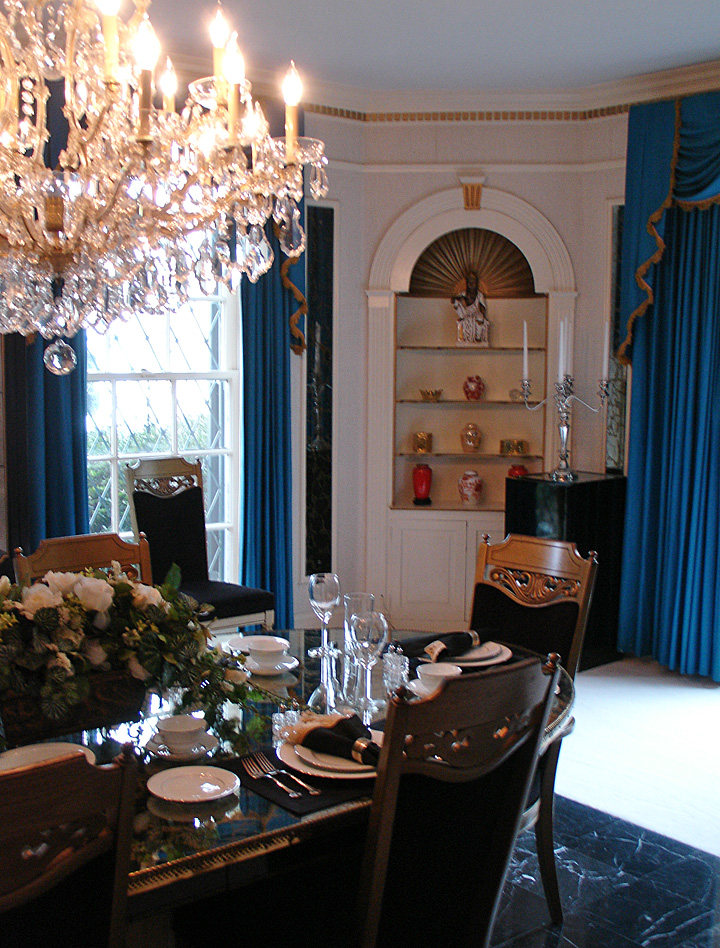 Interior of the Graceland Mansion of Elvis Presley Memphis Tennessee  Travel Photos by Galen