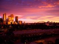 Sunset in Sydney, Australia