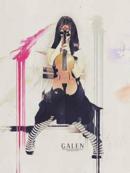 Still Waiting – Digital Mixed Media Violinist Art Print by Galen Valle