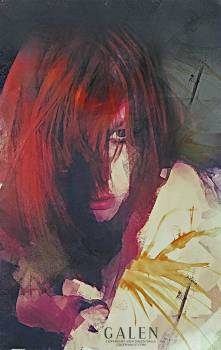 Howl - Abstract Redhead Portrait Art Print by Galen Valle