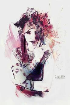 Rouge - Abstract Portrait Art Print by Galen Valle