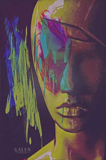 Judgement - Figurative Abstract Portrait Art Print by Galen Valle