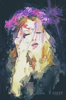 Path - Abstract Portrait Art Print by Galen Valle