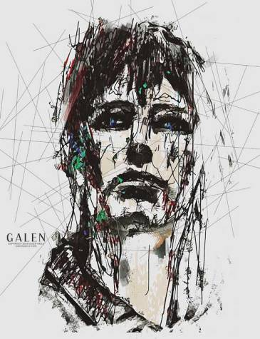 Staggered - Contemporary Expressionist Art Print by Galen Valle