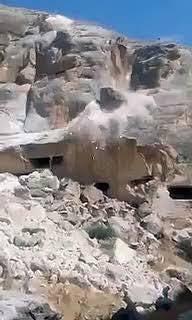hasankeyfteki antik harabeleri dinamitle patlatmak