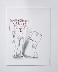 Déshabillant_la_maison2_24x32_Lápiz y tinta sobre papel