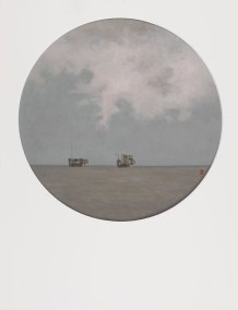 Nubes en alta mar IV-O-P-42cms.Diametro