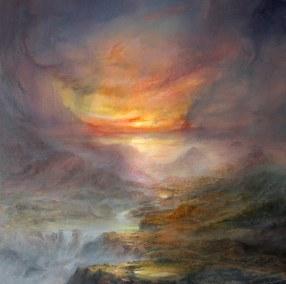Alegoría a Albert Bierstadt Acrílico-Tela, 80 x 80 cm