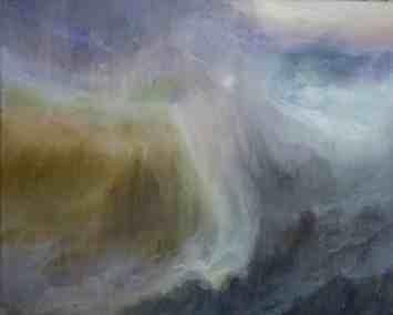 Tempestad de auroras Acrílico- Tela, 40 x 50 cm