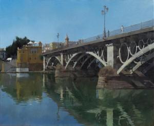 Río y ciudad. Sevilla (81x100)