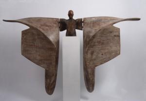 Helicoide III-Bronce-madera