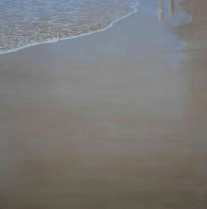 Reflejo de unas sombras 60x60cm oleo-tabla