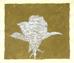 Massimo Catalani, Ombra di Rosa, 1999, mixta sobre papel. 23 x 27 cm
