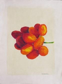 Massimo Catalani, Uvepta, 2000, óleo sobre papel, 30 x 40 cm