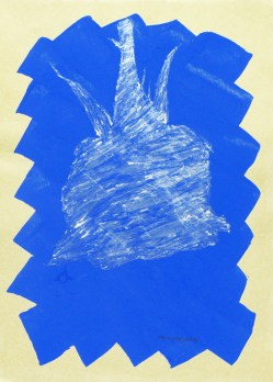 Massimo Catalini, Ombra di Rosa, 1999, mixta sobre papel, 30 x 21 cm