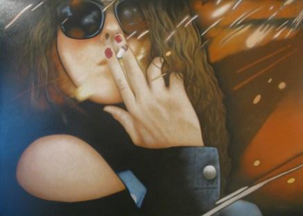55.- Ricardo Villasana, Pamela, 2014, Óleo sobre tela, 120 x 168 cm