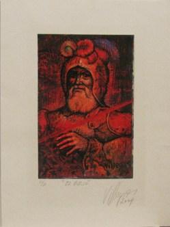 Armando Villegas, El Viejo, 2004, grabado PA, 32 x 23.5 cm