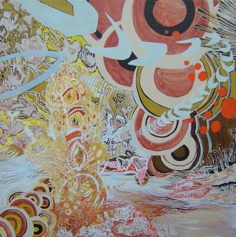 Mariana Pereyra, Mandala de la fuerza de la tierra y el fuego, 2006, acrílico y óleo sobre tela, 92 x 92 cm
