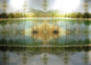 Mayte Espinosa, Natura, 2014, Fotografía sobre espejo en bastidor de madera, 252 x 180 cm