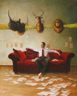 Rocío Caballero, Noé, 2014, óleo sobre tela, 100 x 80 cm
