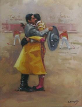 5.- Alfredo Enguix, El trofeo, Óleo sobre tabla, 35 x 27 cm
