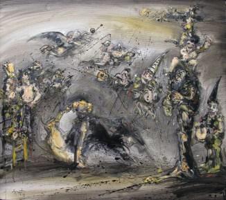 Jazzamoart, Caprichos y fantasías, 2014, Óleo sobre tela, 90 x 100 cm