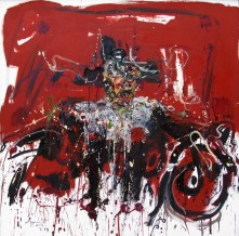 Jazzamoart, Rembrandt encabronado, 2014, Óleo sobre tela, 145 x 145 cm