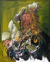 Jazzamoart, Rembrandt NY, 2015, Óleo sobre tela, 100 x 80 cm