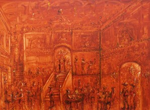 Jazzamoart, Taberna Rembrandt 2010, óleo sobre tela. 150 x 200 cm
